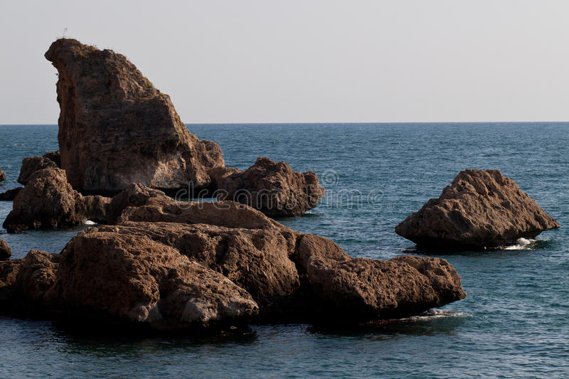 Download The rock of Aegean Sea stock image. Image of balance - 27198477