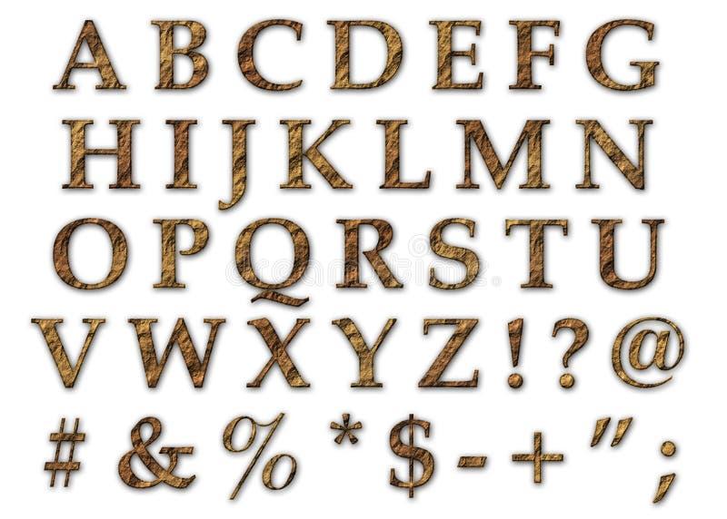 Rock Alphabet Uppercase