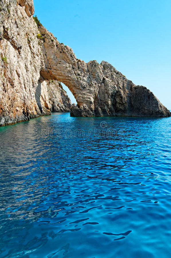 Download Rock Arch On Zakynthos Coastline Stock Image - Image: 29301179