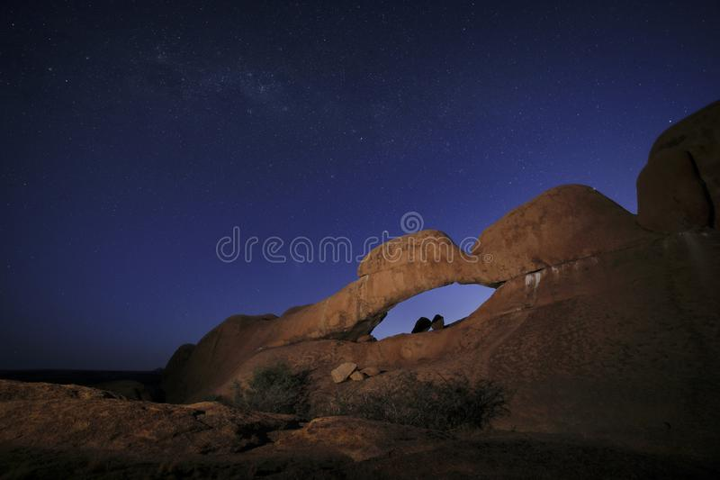 Rock arch at the Spitzkoppe. royalty free stock image