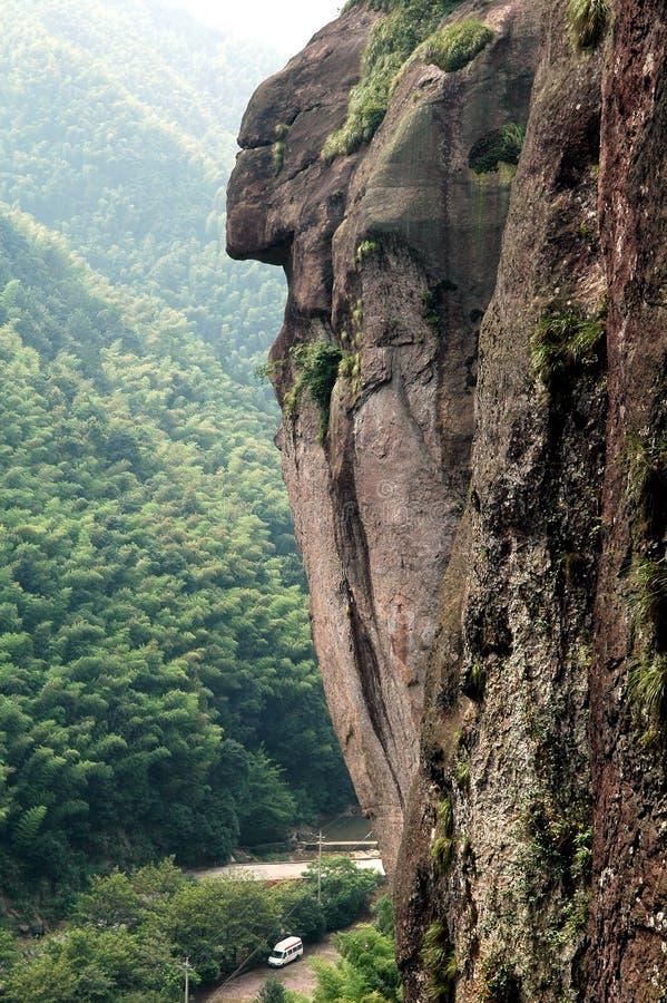 Rock as a human face stock images