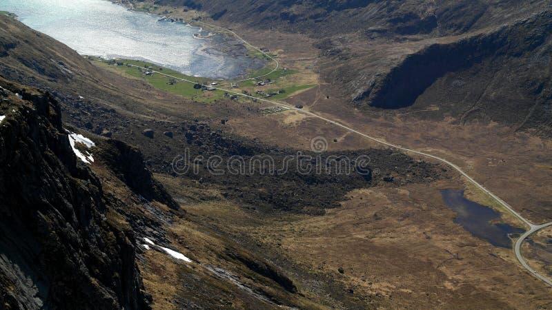 Rock avalanche. A huge rocky avalanche in the Lofoten peninsula stock photos