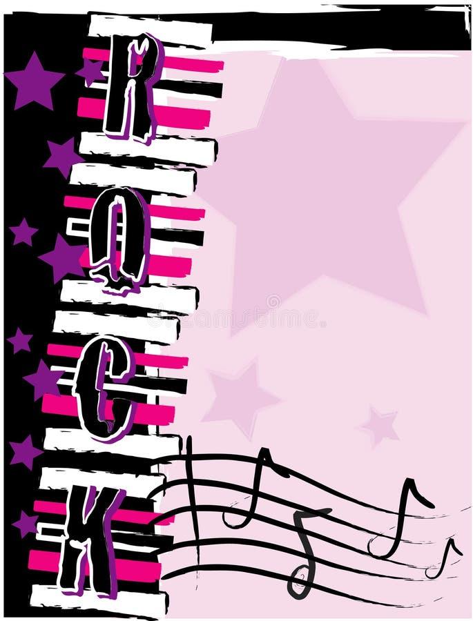 Download Rock! background stock vector. Illustration of teen, lavender - 9911161
