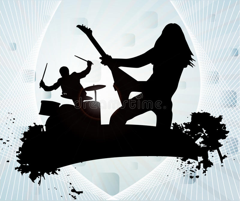 Rock band stock illustration