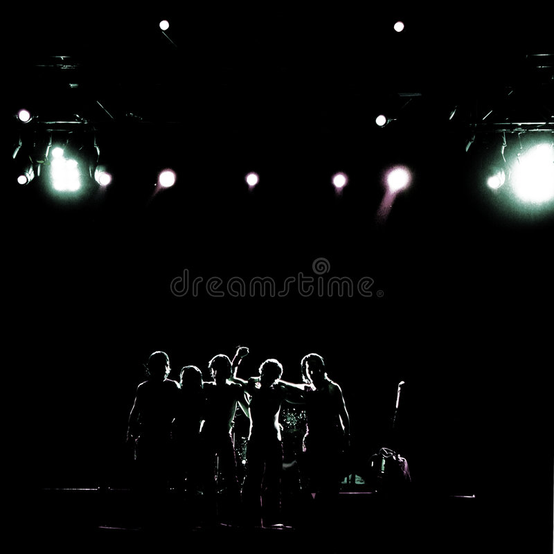 Download Rock band stock photo. Image of team, concert, contrast - 3988070