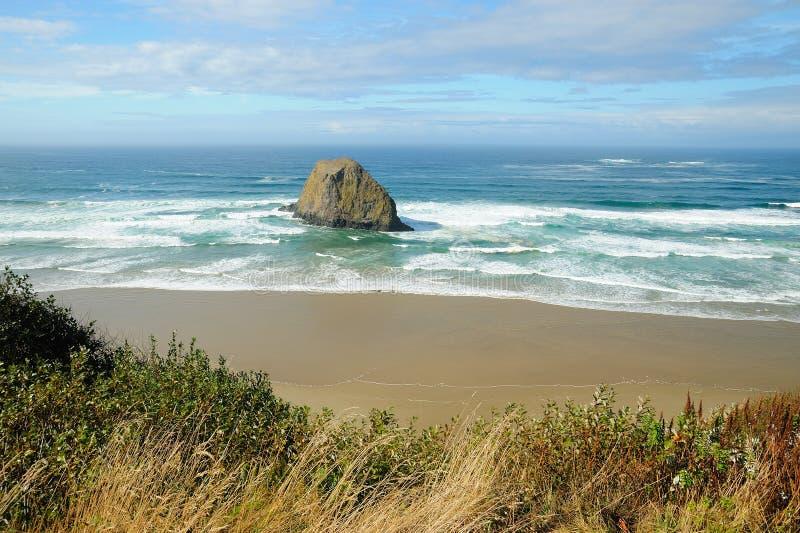 Rock and beach stock photo