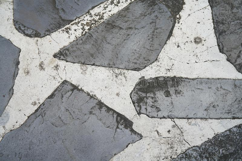 Black stone or rock floor decorated stock image