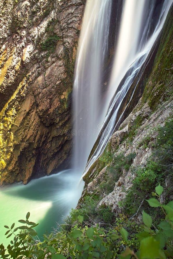 Download Rock-bound Waterfall Stream Stock Image - Image of leisure, fresh: 15406829