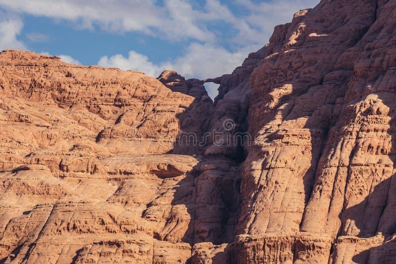 Rock bridge in Wadi Rum royalty free stock photography