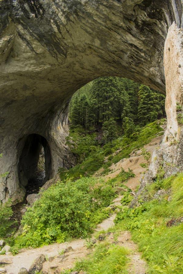 Rock bridge stock photography
