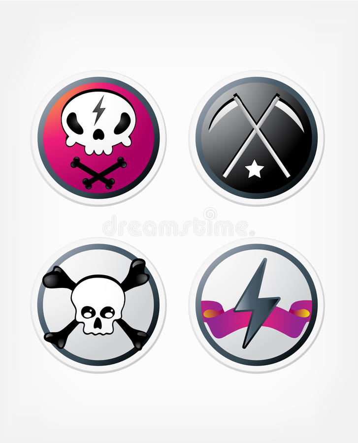 Download Rock buttons stock vector. Image of clipart, pink, promotion - 16102432