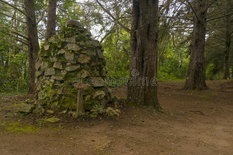 Rock cairn or sanctuary royalty free stock images