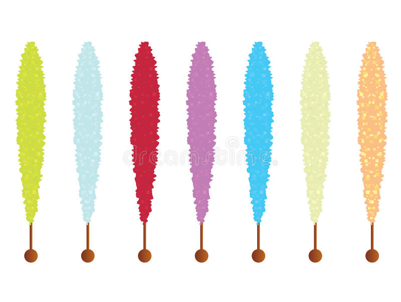 Rock candy sticks vector illustration