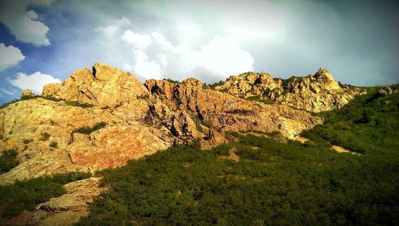 Rock Canyon`s Sheer Rocky Wall stock image