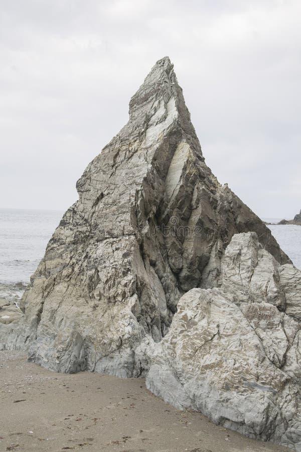 Rock on Carro Beach; Galicia royalty free stock photo
