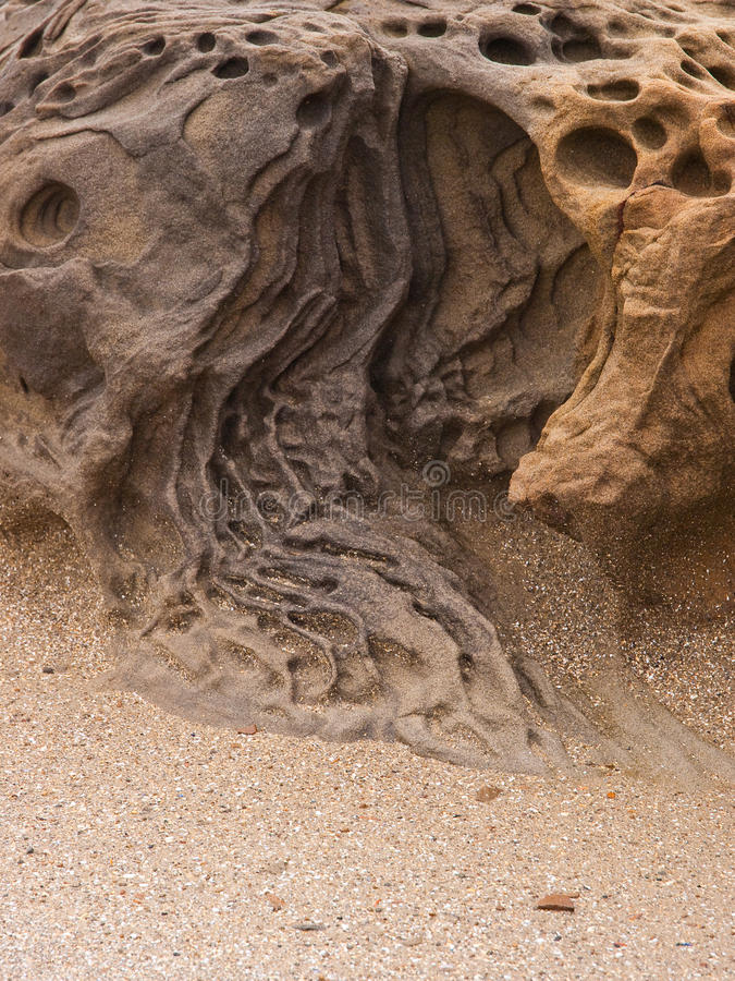 Rock carved by nature stock photo image of relief soil