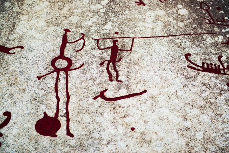 Rock Carvings royalty free stock image