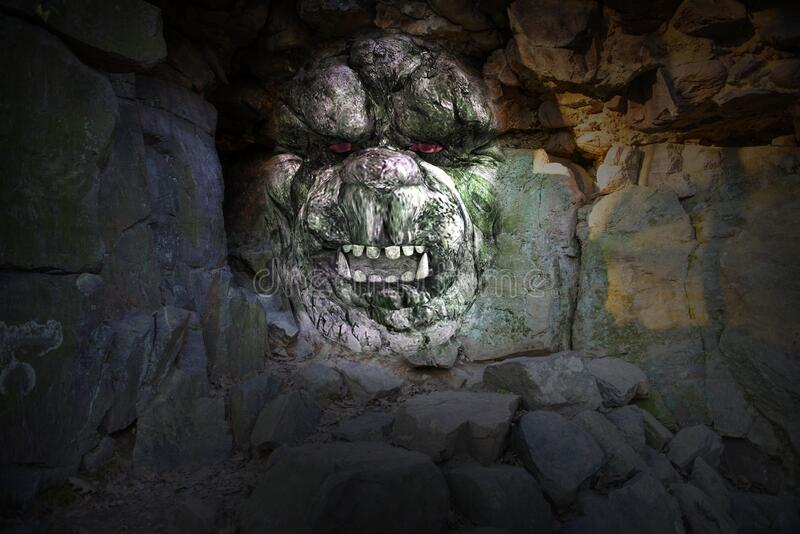 Rock Cave Monster, Fantasy, Background stock photography