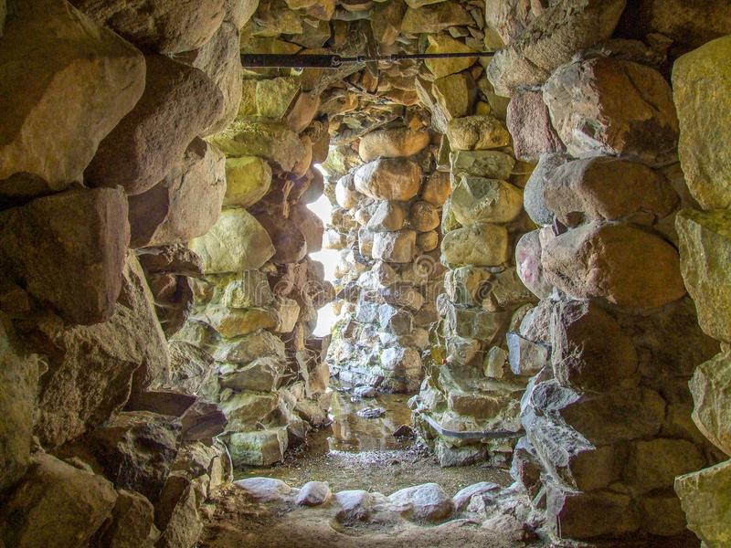 Rock cave under Schwerin Palace in northern Germany. royalty free stock image