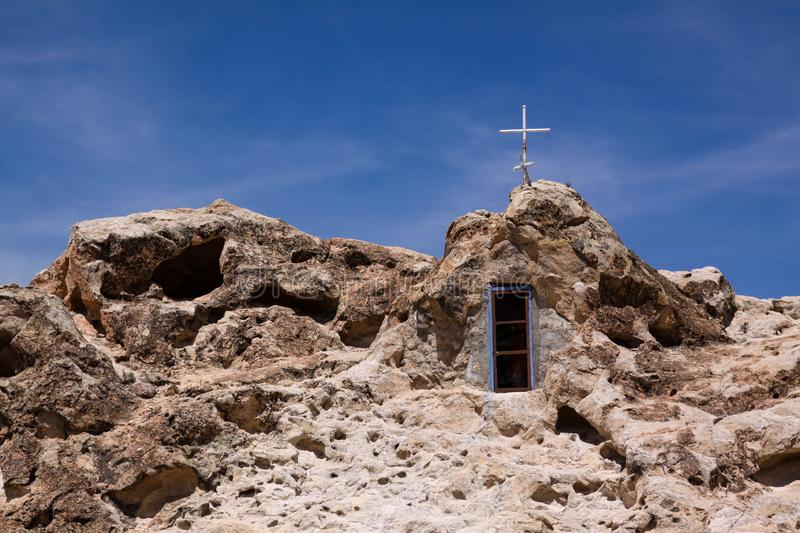 Rock Church Chile stock images