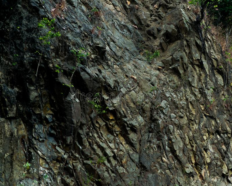 Rock cliff make an abstract pattern royalty free stock images