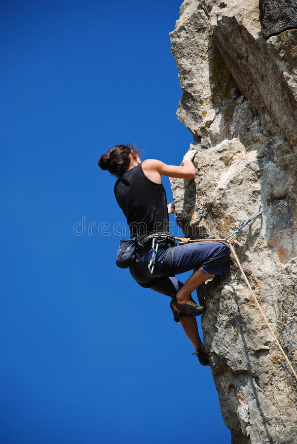 Download The rock-climber stock photo. Image of attractive, free - 12840134