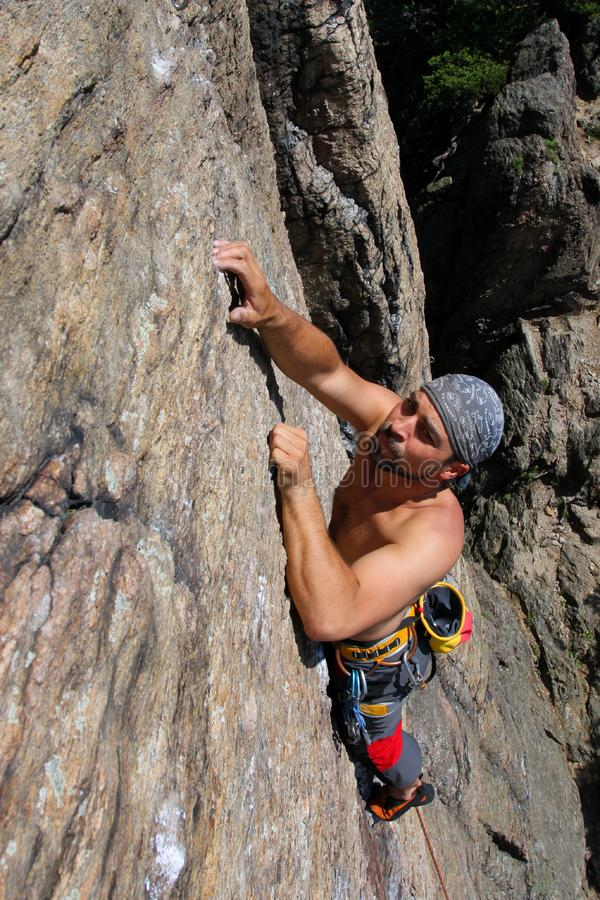 Download Rock climber stock photo. Image of person, adrenalin - 14636198