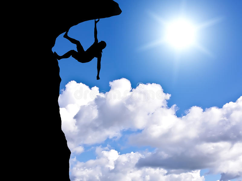 Rock climber royalty free stock images