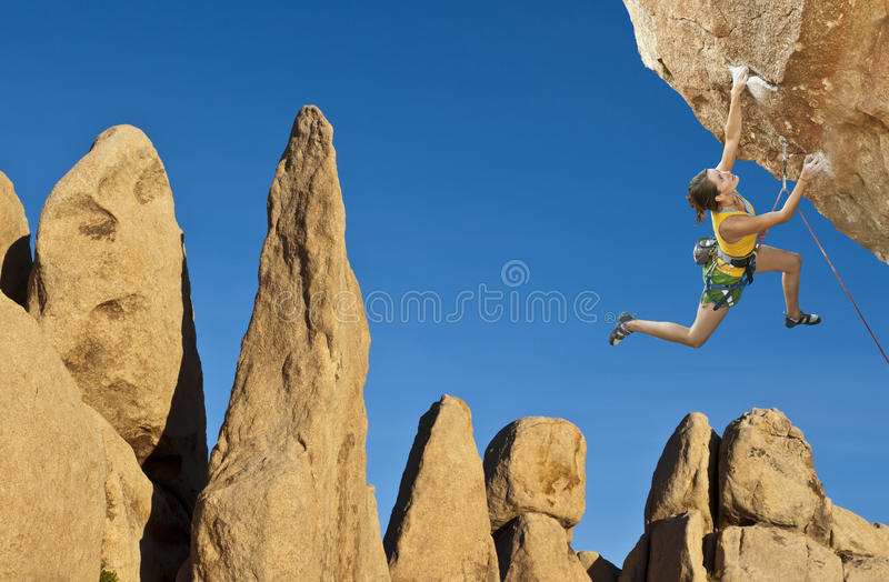 Download Rock climber dangling. stock image. Image of grip, risk - 23120007