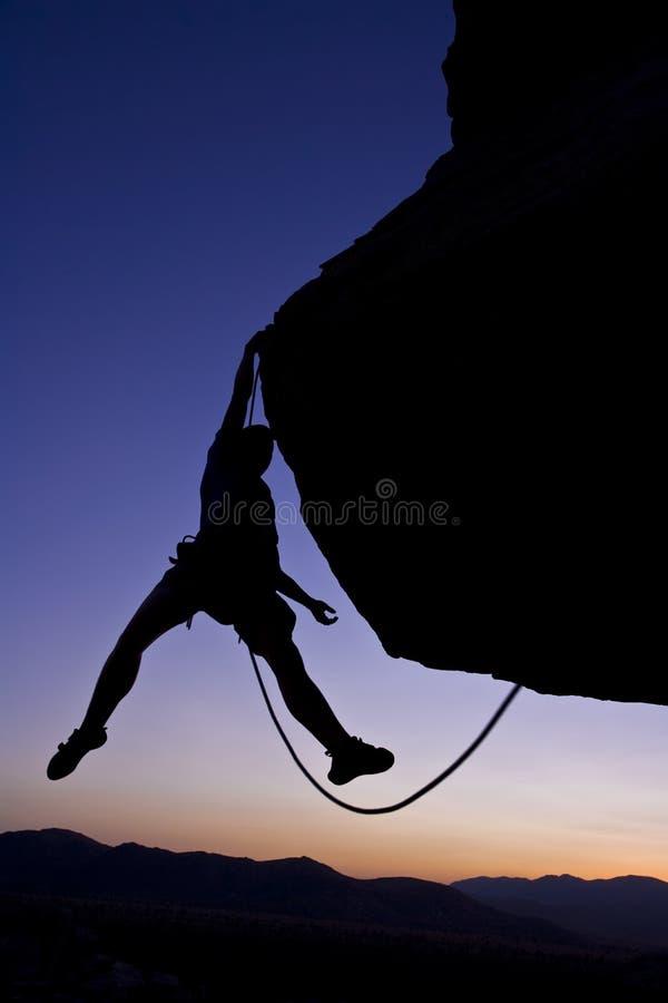 Download Rock climber dangling. stock photo. Image of effort, dangerous - 6207066
