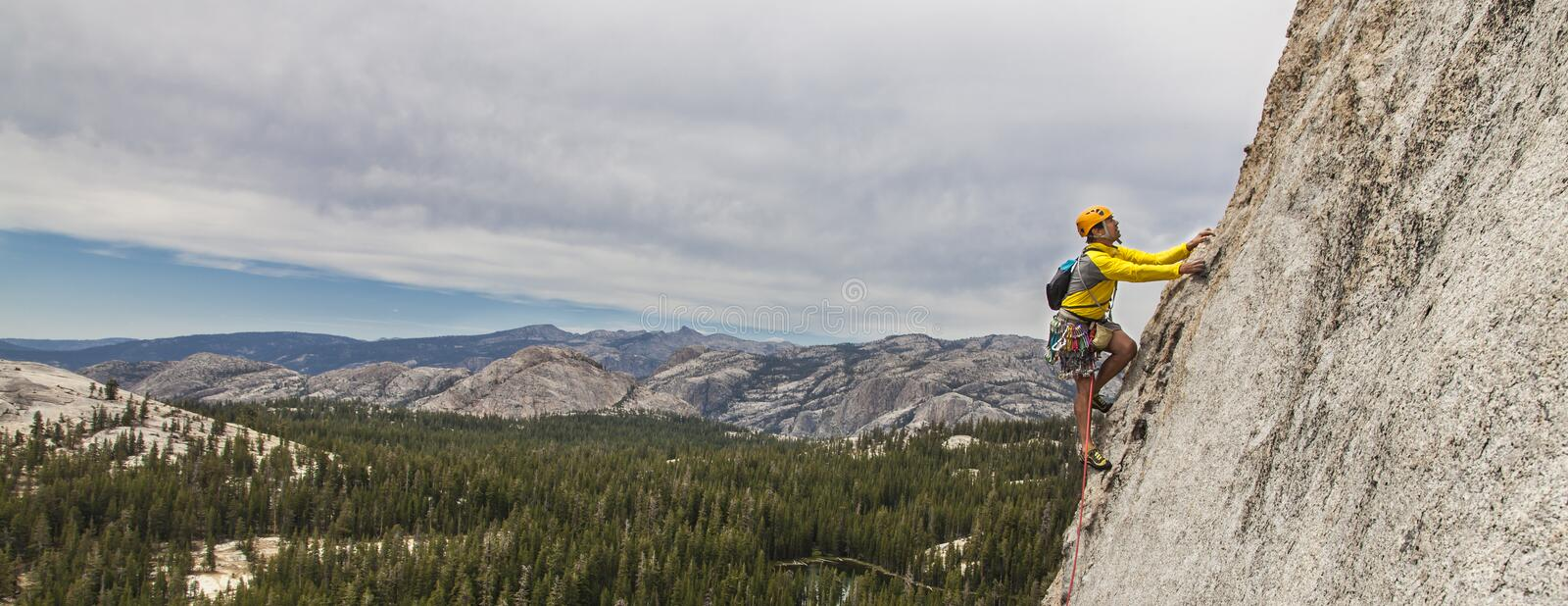 Rock climber on the edge. royalty free stock image