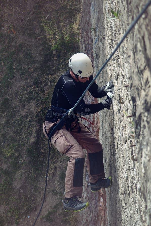 Rock Climber On Ropes Free Public Domain Cc0 Image