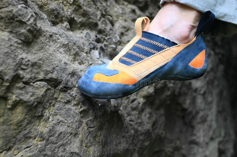 Download Rock Climber's Foot Standing On Foothold Stock Photo - Image: 23379146