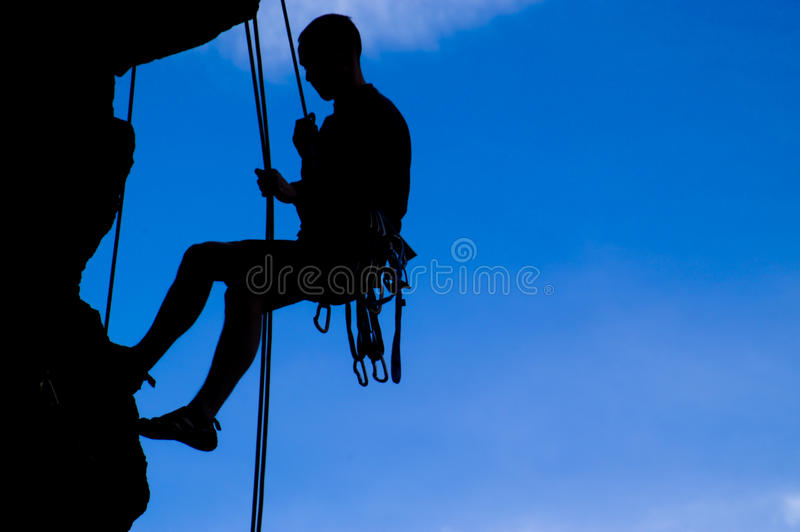 Download Rock climber silhouette stock photo. Image of silhouette - 24209710