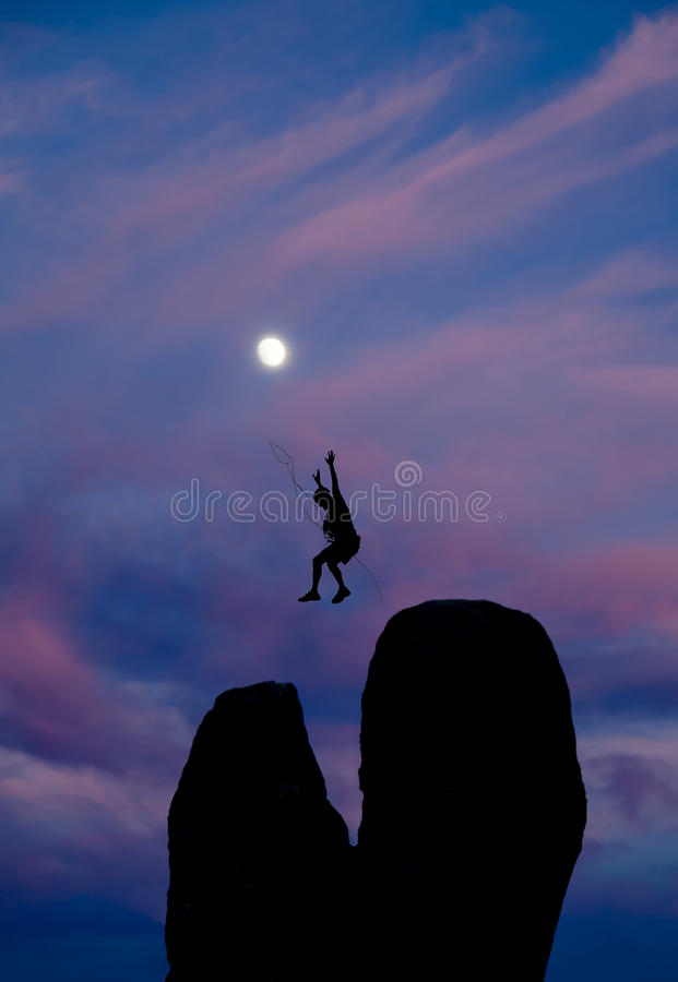 Download Rock Climber On The Summit. Royalty Free Stock Photo - Image: 33340095