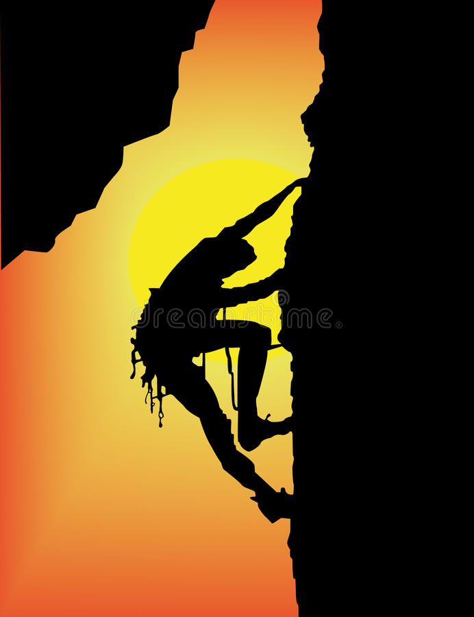 Download Rock climbing stock vector. Image of hobby, belt, adrenaline - 11117221