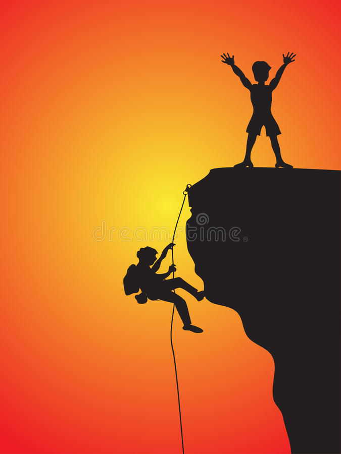 Download Rock climbing stock vector. Illustration of extreme, adult - 22421201