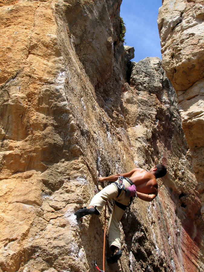 Download Rock climbing stock image. Image of rope, sport, harness - 260275