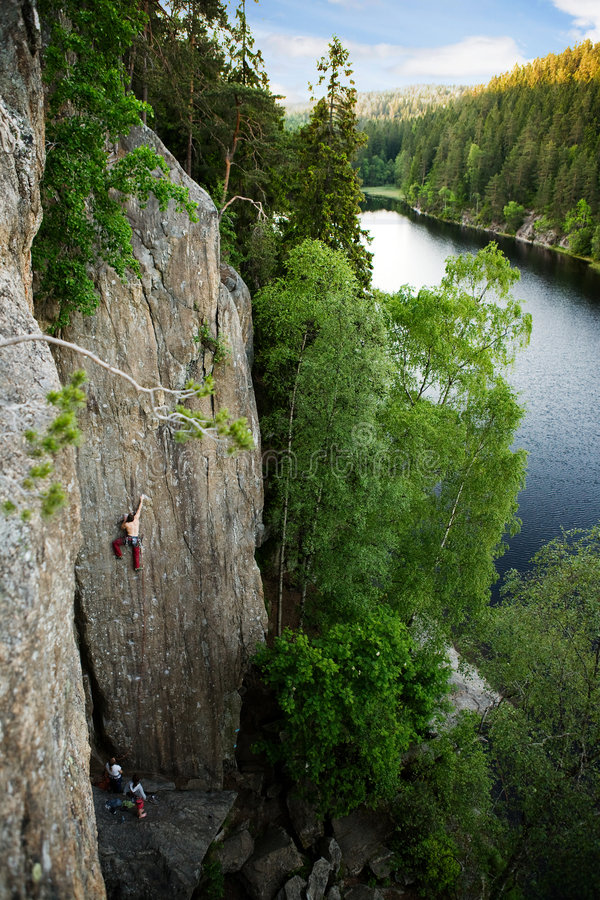 Rock Climbing royalty free stock images