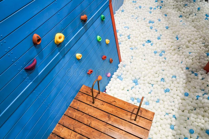 Rock climbing holds for kids stock image