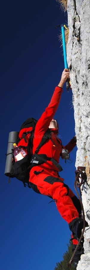 Rock climbing romania stock photo