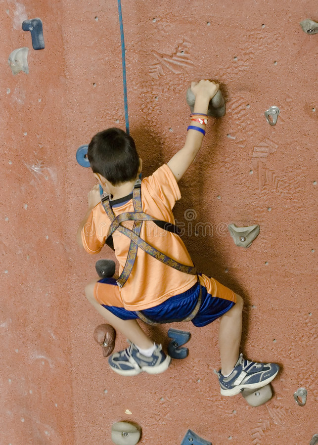 Rock Climbing Series A 1 royalty free stock image