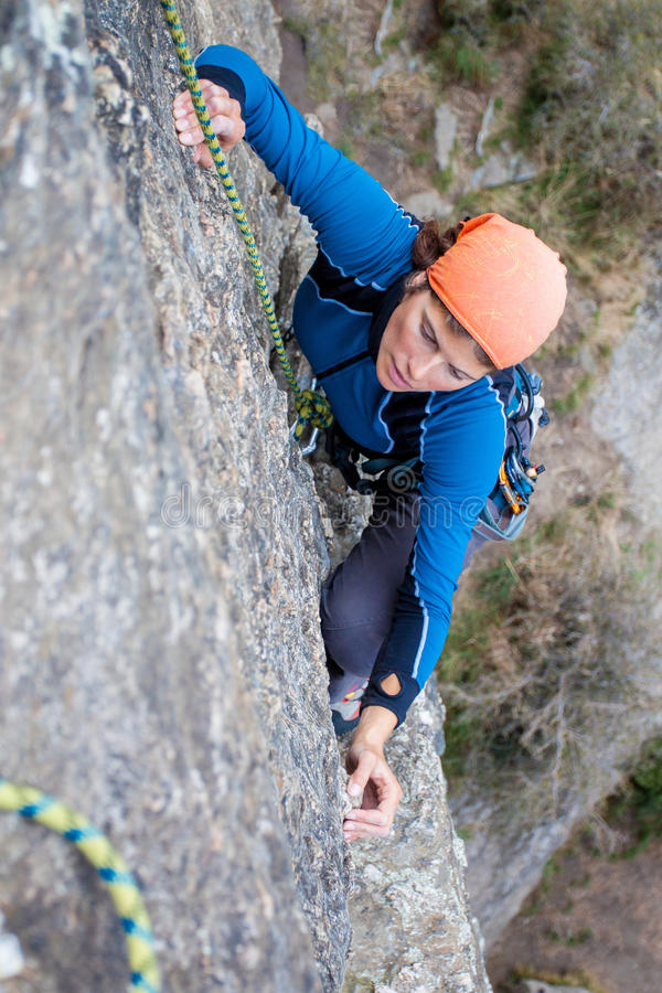 Download Rock climbing stock image. Image of success, achieve - 33632255