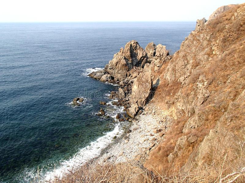 Coast of The Sea of Japan, Russian Far East royalty free stock photos