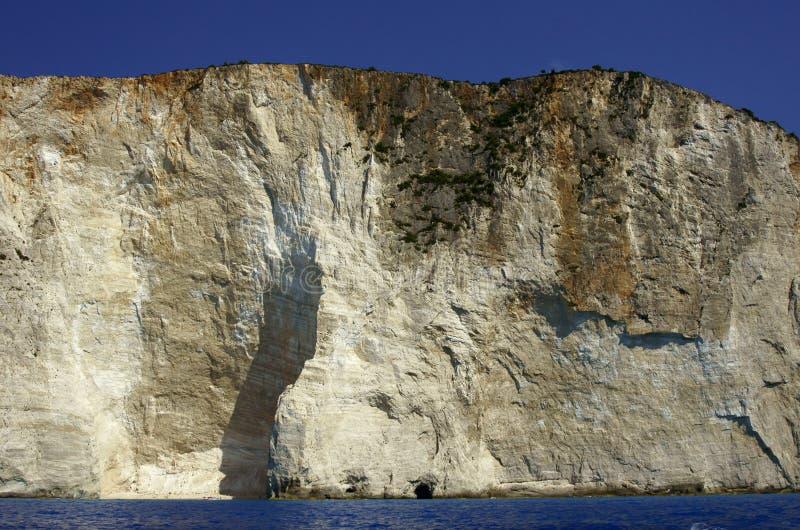 Rock on coast at Zakynthos island royalty free stock images