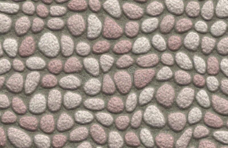 Rock Cobblestone Pavement stock illustration