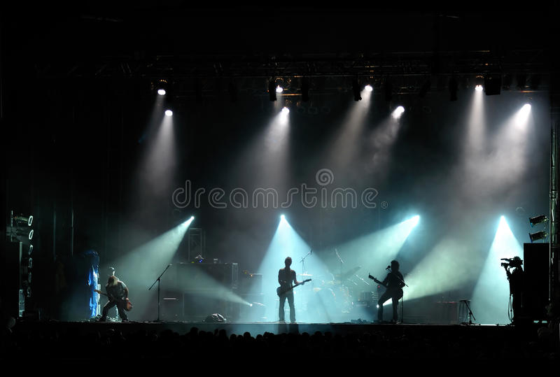 Rock concert stock photography
