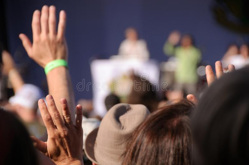 Download Rock concert audience stock image. Image of club, motion - 10960867
