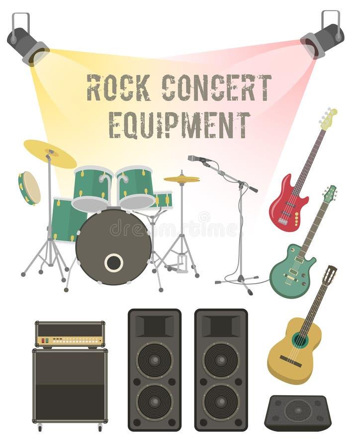 Rock Concert Equipment vector illustration