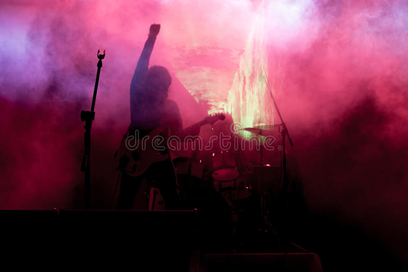 Rock concert stock images